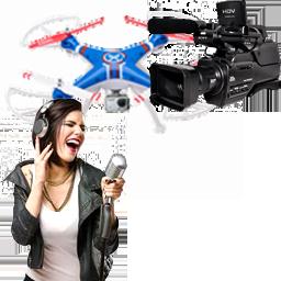 Riprese video con drone o videocamera